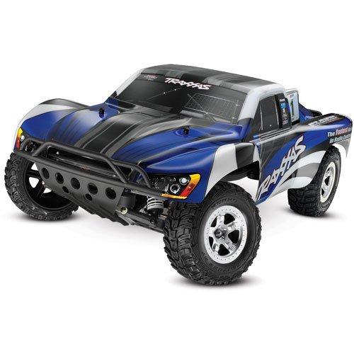 Traxxas 1 10 Slash 2WD RTR with 2.4GHz Radio (No Battery) - Blue Black