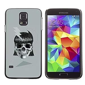 Shell-Star Arte & diseño plástico duro Fundas Cover Cubre Hard Case Cover para SAMSUNG Galaxy S5 V / i9600 / SM-G900F / SM-G900M / SM-G900A / SM-G900T / SM-G900W8 ( Girl Skull Electric Metal Ink Biker Tattoo )
