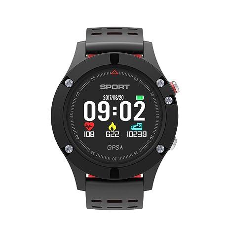 Laurelmartina F5 GPS Deportes al Aire Libre Hombre Dedicado Reloj Inteligente Soporte Paso Posicionamiento Fitness Tracker