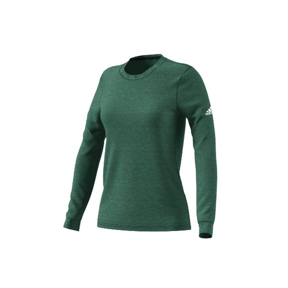 Dark Green adidas Go To Performance Long Sleeve Tee Women's Training