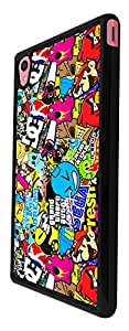 589 - StickerBomb Sticker Bomb Cool Funky Design For Sony Xperia M4 Fashion Trend CASE Back COVER Plastic&Thin Metal