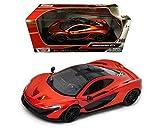 mclaren model car - Motor Max 1:24 W/B MCLAREN P1 Diecast Car Model Orange Color