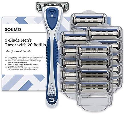 Marca Amazon- Solimo Maquinilla de afeitar de triple hoja para ...
