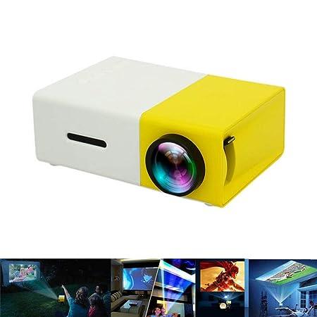 CVDEKH Proyector HD 1080P PC portátil con Pantalla LCD Reproductor ...