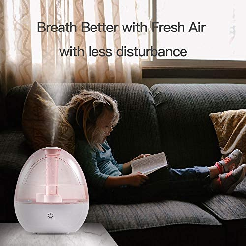 51pb7M6u0bL. AC - Cool Mist Humidifier – Humidifier For Baby Bedroom, Super Quiet Mist Humidifier With High Low Mist, Waterless Auto-off, Night Light, 2L Capacity, Filterless Humidifiers For Home Office, ETL Approved