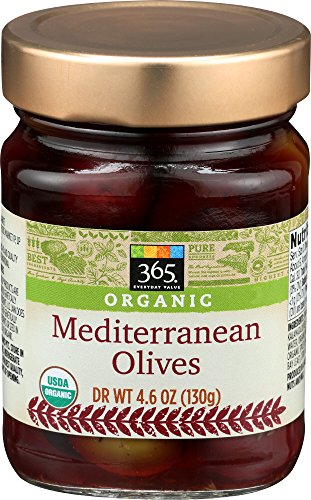 Medium Pitted Olives Black (365 Everyday Value, Organic Mediterranean Olives, 4.6 Ounce)