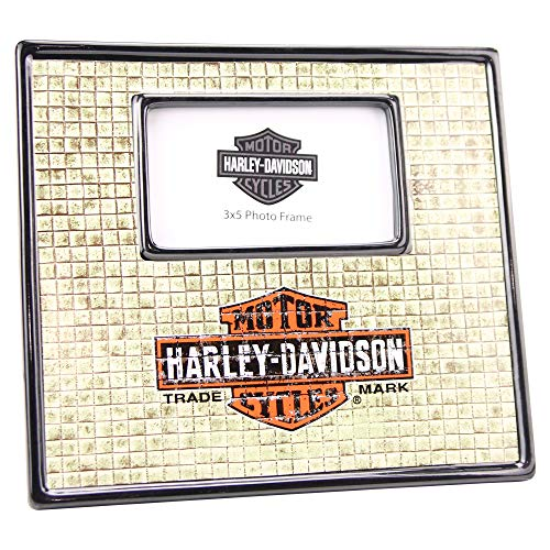 "Memory Company Harley Davidson Standing Picture Frame (Rustic Tiles (3"" x 5"")) from Memory Company"