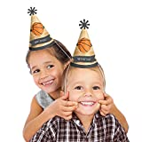 Nothin' But Net - Basketball Cone Happy Birthday Party Hats - 8 Count