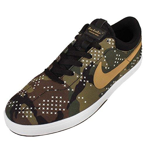 Nike Zoom Eric Koston, Zapatillas de Skateboarding para Hombre Marrón / Verde / Negro / Blanco (Medium Olive/Metallic Gold-Blk)