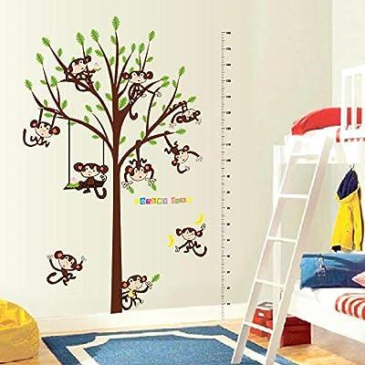 Altura de dibujos animados mono pegatinas de pared sala de estar ...