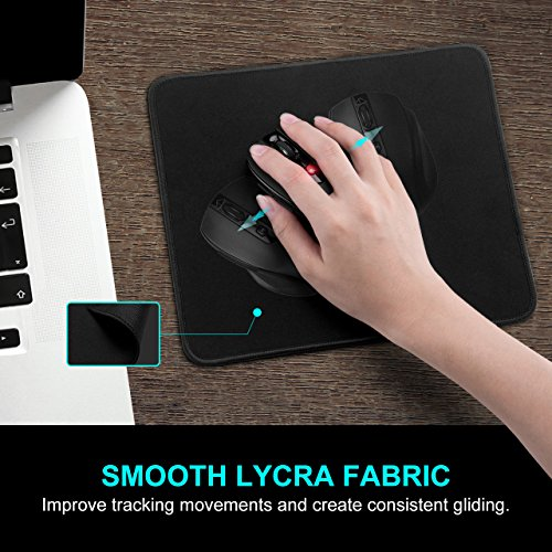 VicTsing Wireless Mouse and Mouse Pad Set, 2.4G Wireless Portable Mobile Mouse Optical Mouse with USB Receiver and Mouse Pad Combo for Notebook, PC, Laptop, Computer, Macbook (Black) by VicTsing (Image #4)