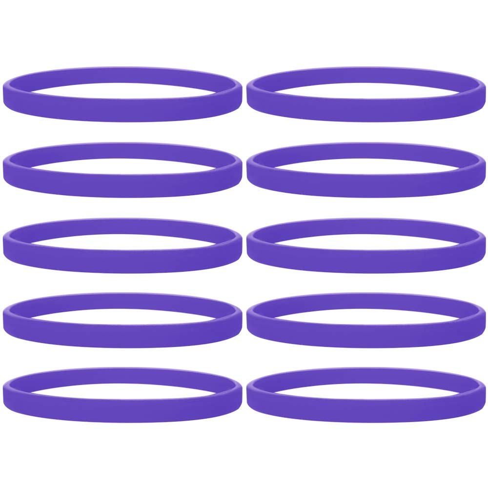 GOGO 100 Pcs/Pack Silicone Wristband Sport Rubber Bracelet-Orange-1PACK DD05156_ORANGE-1PACK