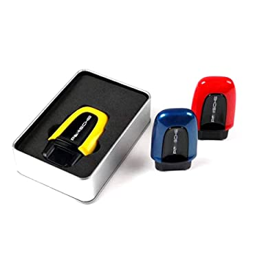 LIMBQS Start Passive Keyless Enter for Porsche Macan Cayenne Panamera Start Stop Button Stickers Entry Box Switch Cover (Red): Automotive