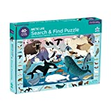 """MudPuppy 9780735355781 Life Search & Find Jigsaw Puzzle, Ages 4-7 - Arctic Animal Drawings, 64Piece, 23"""" X 15.5"""" Size, Multicolor"""