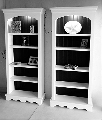 Shabby Chic Metalic Finish Solid Wood Bookshelf ()