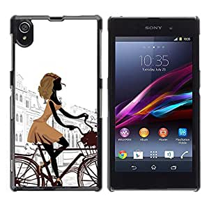 Impact Case Cover with Art Pattern Designs FOR Sony Xperia Z1 L39 parizh gorod ulica ploschad Betty shop