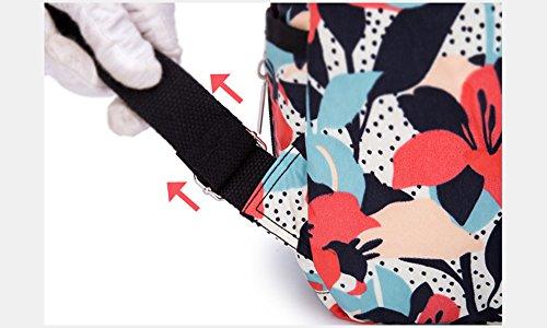 Moda multi-funcional Mummy mochila, anti-robo de gran capacidad de leche en polvo paquete de bebé, la madre y el niño fuera del paquete ( Color : Pink ) Pink