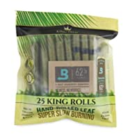 King Palm King Size Cones (1 Pack of 25, 25 Rolls Total) Natural Pre Wrap Palm Leafs...