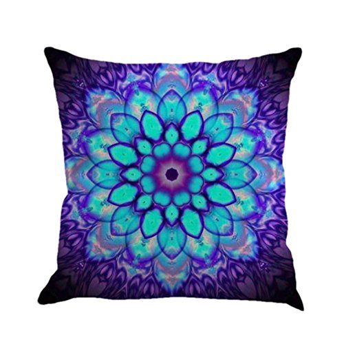 Winhurn Colorful Bohemia Style Linen Cushion Cover Pillow Ca