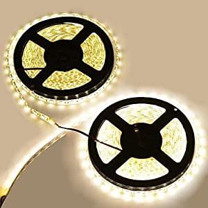 10 M 600LED 5050 SMD White Waterproof/Cuttable/Linkable/Suitable for Vehicles/Self-adhesive 144 W Flexible LED Light Strips DC12 V