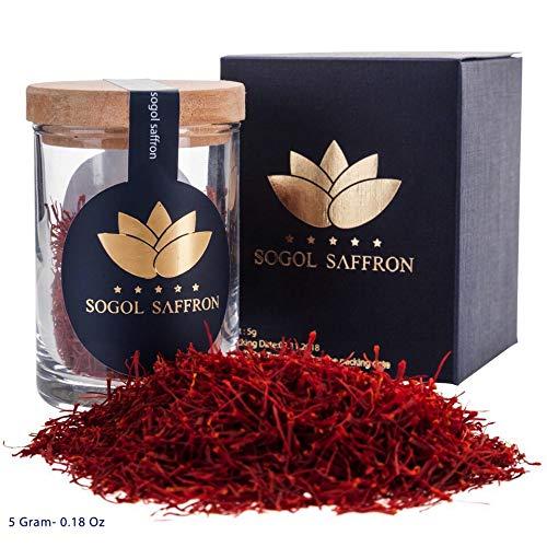 Saffron Threads Organic Persian Saffron Tea (5gram) Persian Rice Basmati,Saffron Spice Pure Spanish Saffron