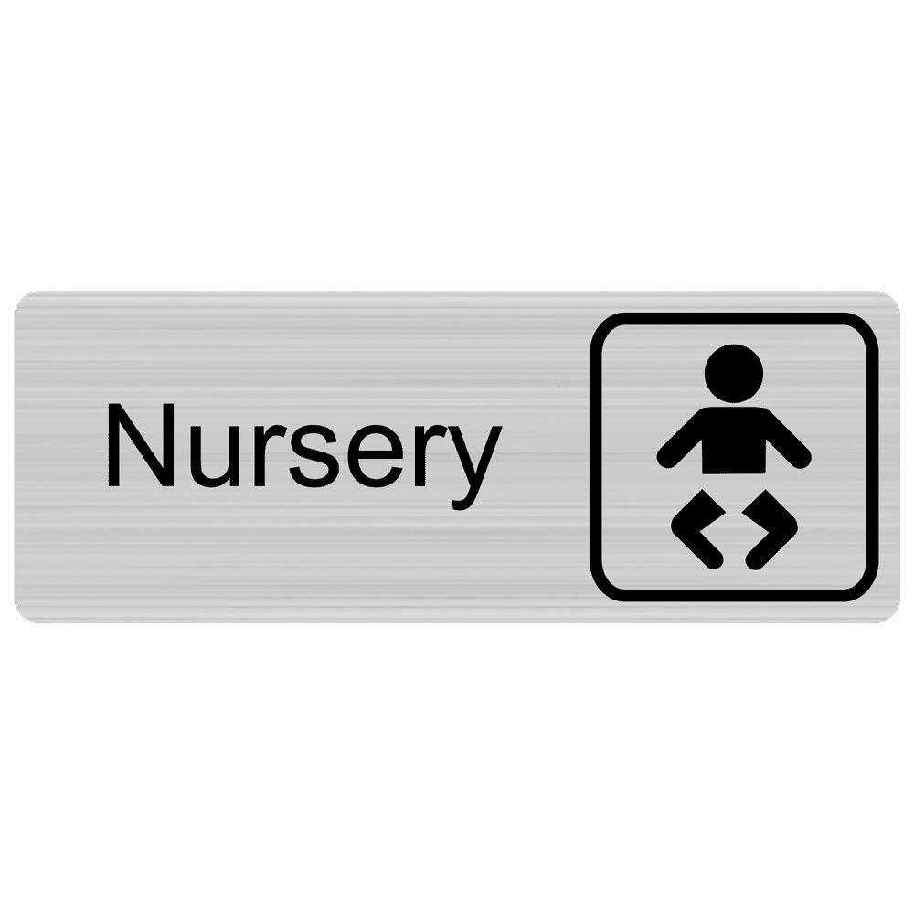 ComplianceSigns Engraved Plastic Nursery Sign, 8 X 3 in