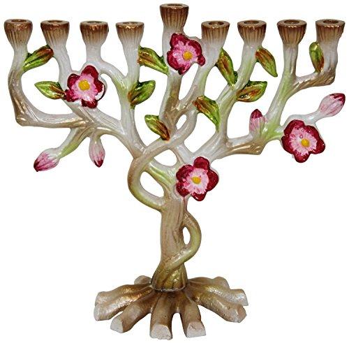 Lamp Lighters Ultimate Judaica Menorah Multi Flower - - Lamp Menorah Hanukkah Brass