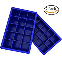 Ozera 2 Pack Silicone Ice Cube Tray Molds Candy Mold Cake Mold Chocolate Mold...