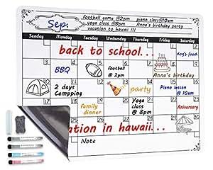 Amazon.com : Dry Erase Monthly Calendar Whiteboard Planner