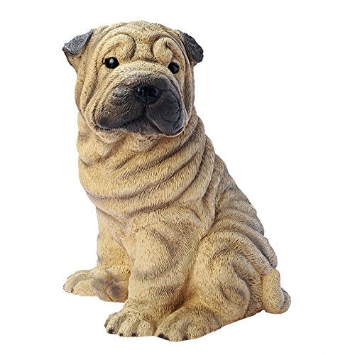 (Design Toscano Shar-Pei Puppy Dog Statue, Multicolored)