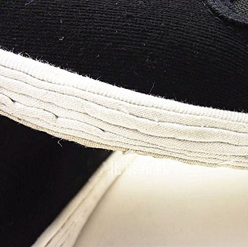 zooboo Hombre Negro Gamuza Zapatos Calzado de artes marciales Kung Fu práctica Wear Ejercicio Por la mañana Tai Chi Zapatos Negro Cloth Cotton Soles