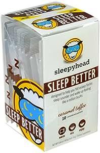 Sleepyhead Sleep Aid Supplement, Melatonin and Valerian Root, Caramel Toffee, 10-Pack