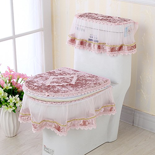 CE GH-Winter warm flannel toilet seat cushion thickening toilet bowl three sets of waterproof toilet,CT