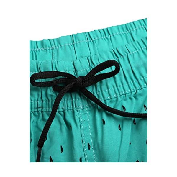 Lau's Pantaloncini da bagno per donna - Short da bagno coulisse con stampa floreale 4 spesavip