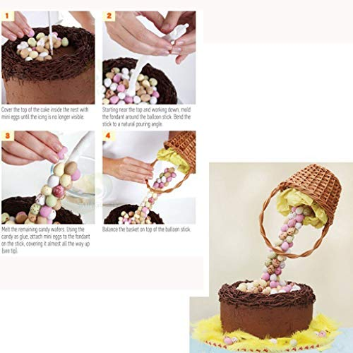 LLJEkieee Cake Support Structure Frame Anti Gravity Cake Pouring Kit DIY Cake Baking Tools - 2 supporting rods and corner piece 2526.5cm
