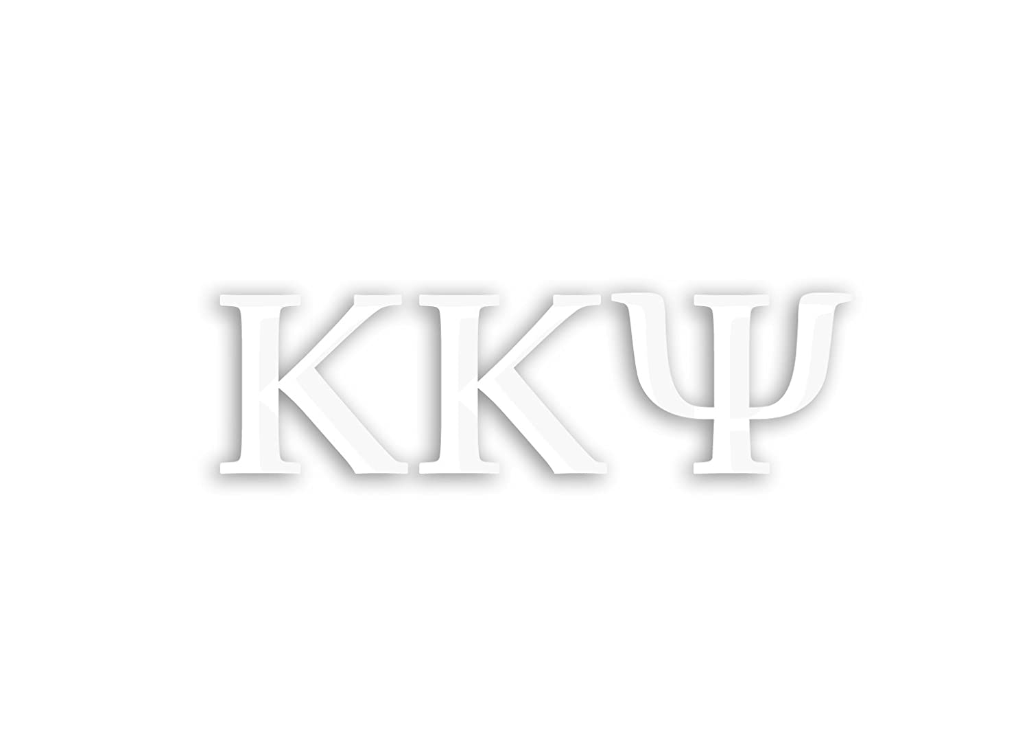 White Officially Licensed Kappa Kappa Psi 8 x 3 Window Decal