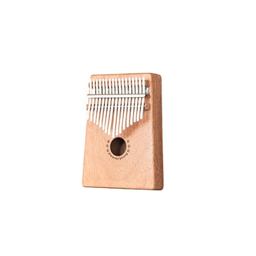 Qiyuezhuangshi Kalimba, portable 17-key thumb piano, suitable for beginners professional performance and student general style, (style 1, gifts; plus velvet storage bag + note stickers + tuning hammer