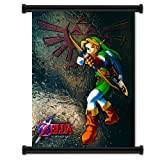 dragon quest wall scroll - Legend of Zelda: Ocarina of Time Game Fabric Wall Scroll Poster (32