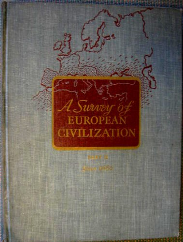 European Part - A survey of european civilization part II