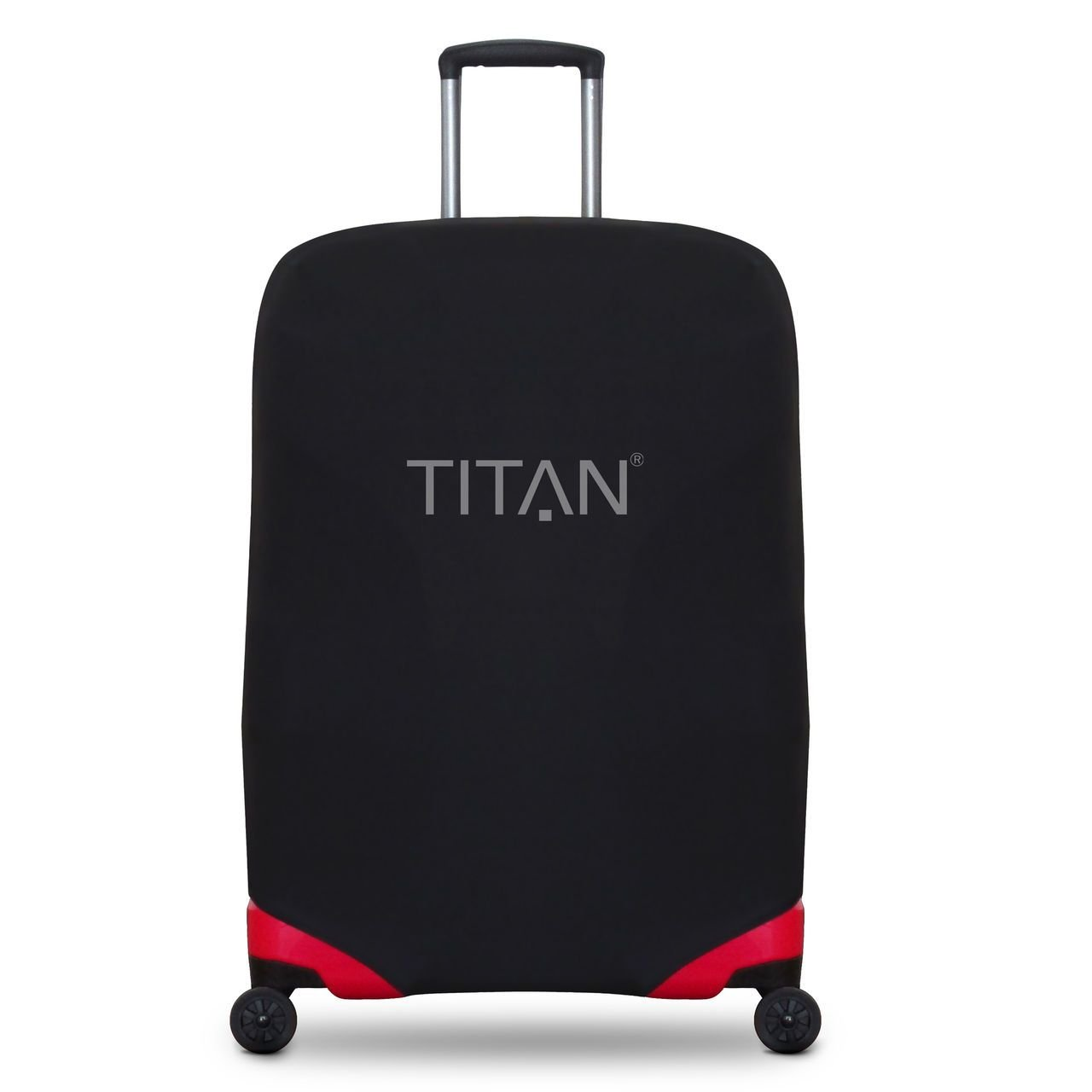 TITAN Luggage Cover Universal - aus elastischem Spandex Polyester für 4-Rad Trolleys M+, Black, 825307-01 Bagage Cabine, 71 cm, 0.01 liters, Noir (Black)