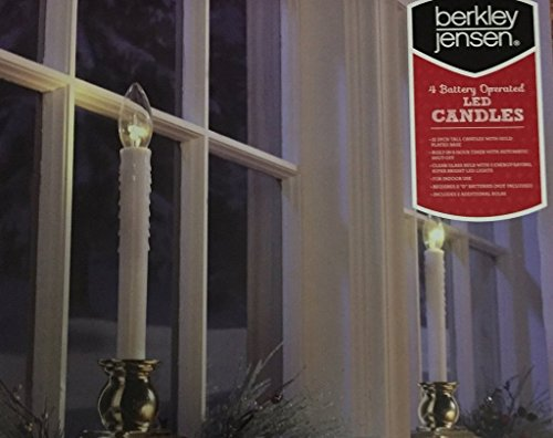 Berkley Jensen 4 Battery Operated Led Candle-( 2×4 pack) 8 Pack For Sale