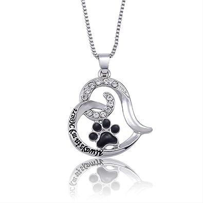 Élégant Collier élégant pour chien amant Empreinte Chien Patte Pendentif Bijoux