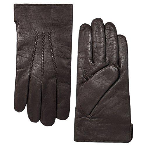 Grandoe Men's Sensortouch Leather Glove with 3 Draws, Black, X-Large ()