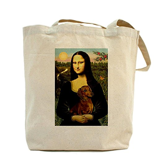 Cafepress–Mona, bassotto–Borsa di tela naturale, panno shopping bag
