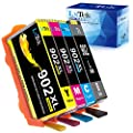 LxTek Remanufactured for HP 902 Black HP 902XL Cyan Magenta Yellow Ink Cartridges for HP OfficeJet Pro 6968 6978 6962 6954 6960 6975 6951 6970 6950 6979 6958 Printer (4 Pack, New Chip)
