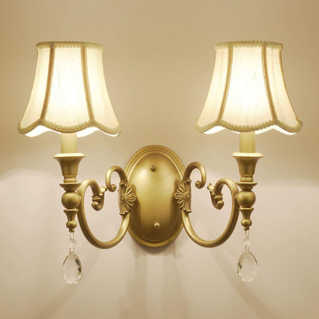 WHKHY Wall Lamp Retro Style Lamp Wall Lighting Bulbs Night Table Lamp Illuminate Lounge The Bedroom Wall Lamp, Irons Lights Wall Lights Lamps Retro,B