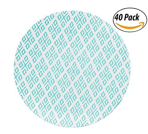 (Trendables Premium 8 Inch. Disposable Plastic Plates , Food Grade Plastic Salad/Dessert Plates - Aztec Design - 40 Pack)