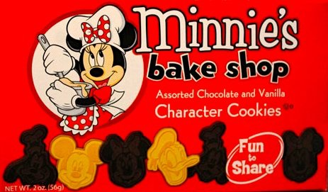 Disney Parks Disneyland Minnie's Bake Shop Assorted Chocolate and Vanilla Character Cookies 2 Ounces