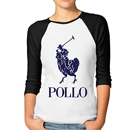 Women Pollo Tshirts Raglan Funny Baseball
