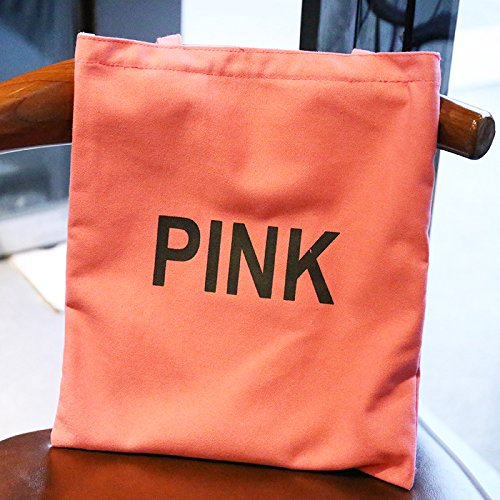 """1 bolso de hombro para mujer, casual, para playa, bandolera, bolso de mano, bolsa de la compra de lona 12.60"""" x 0.39"""" x 12.99"""" amarillo Rosa"""